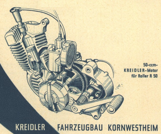 moteur kreidler 1955